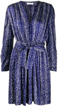 Sandro Paris Angel geometric-print dress