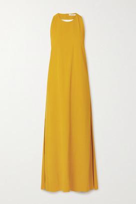 GAUCHERE Rei Crepe Halterneck Maxi Dress - Mustard