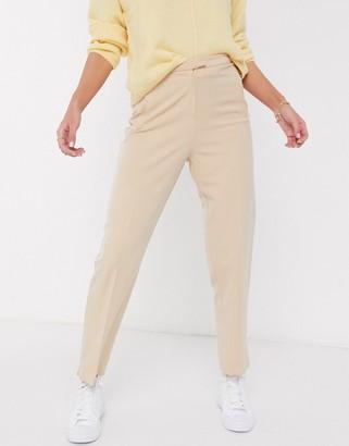 Miss Selfridge cigarette pants in camel