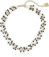 "Anne Klein Gold-Tone Multi-Row Collar Necklace, 15"" + 3"" Extender"