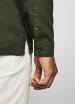 MANGO MAN Regular-fit flannel shirt