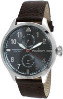 Peugeot Mens Brown Strap Aviator Watch 2044SBR
