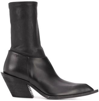 Haider Ackermann Leather Mid-Calf Boots