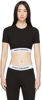 Paco Rabanne Black Bodyline Sports T-Shirt