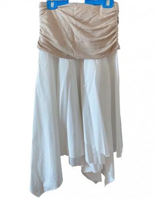 Loewe White Linen Skirt for Women