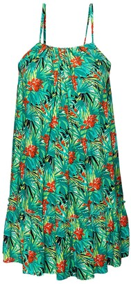 Superdry Floral Print Mini Sundress with Shoestring Straps