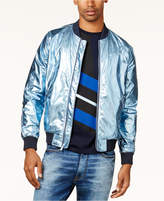 Sean John Men's Metallic Bomber Jacket