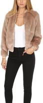 Mother Letterman Fur Jacket