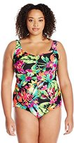 Maxine Of Hollywood Maxine Plus Summer Bounty One Piece Swimsuit