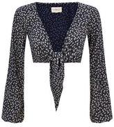Denim & Supply Ralph Lauren Floral Tie Crop Top