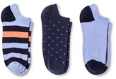 Merona Women's Low-Cut Socks 3-Pack Pin Dot Navy One Size