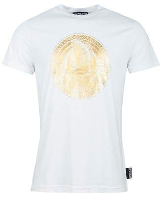 Versace Centre Foil Logo Slim Fit T-shirt Colour: WHITE,
