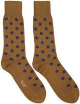 Paul Smith Brown Bright Polka Dot Socks