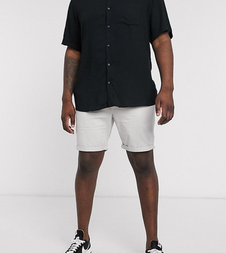 New Look Plus chino short in gray
