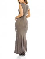 AX Paris Gray Surplice Maxi Dress