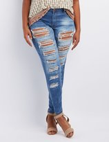 Charlotte Russe Plus Size Destroyed Boyfriend Jeans