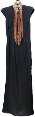 Tamara Mellon Black Linen Dress for Women