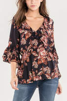 Miss Me Rosey Ruffle Blouse