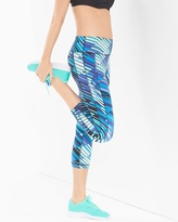 Soma Intimates Crop Leggings Sprint Striped Royal