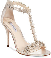 INC International Concepts Women's Rosiee T-Strap Embellished Evening Sandals, Only at Macy's Women's Shoes