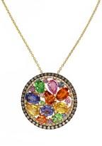 Effy Jewelry Watercolors Multi Sapphire & Diamond Pendant, 5.11 TCW