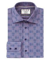 Thomas Pink Bourne Check Slim Fit Button Cuff Shirt