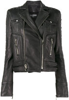 Balmain Biker cropped leather jacket