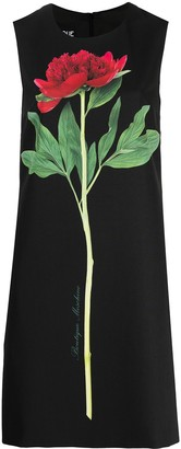 Boutique Moschino Sleeveless Flower-Print Shift Dress
