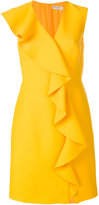 Emilio Pucci frill detail fitted dress - women - Silk/Wool - 40