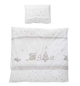 Camilla And Marc Roba 2-Piece Bedding Set with Magic Stars, Cot Bedding 80 x 80 cm, Reversible Bedding 100% Cotton, Duvet Cover 80 x 80 cm and Pillowcase 40 x 35 cm