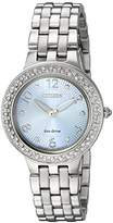 Citizen Women's 'Eco-Drive' Quartz Stainless Steel Casual Watch, Color:Silver-Toned (Model: FE2080-56L)