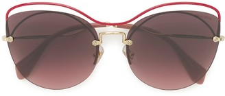 Miu Miu Oversized Embellished Sunglasses