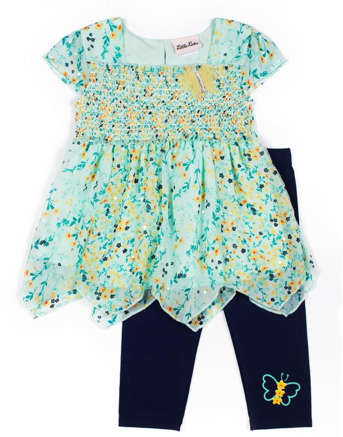 Little Lass Baby Girls Flower Shirt /& Shorts