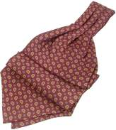 Forzieri Mini Paisley Print Twill Silk Ascot