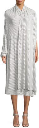 Balenciaga Stripe Wrap Dress