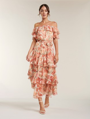 Ever New Becca Bardot Ruffle Maxi Dress