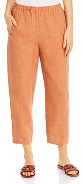 Eileen Fisher Petites Organic Linen Lantern Pants