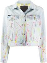 Philipp Plein hot n' cold cropped denim jacket
