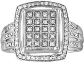 Ice Diamond Vintage Cocktail Ring in Sterling Silver