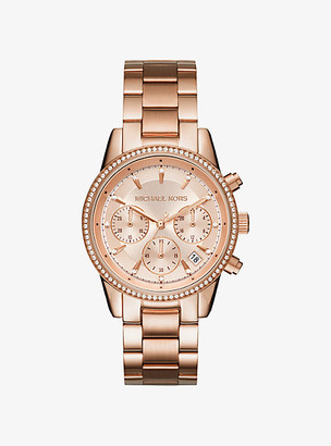 Michael Kors Ritz Rose Gold-Tone Watch