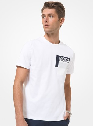 Michael Kors Logo Pocket Cotton T-Shirt