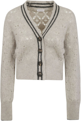 Brunello Cucinelli V-neck Cropped Cardigan