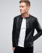 Jack and Jones Faux Leather Biker Jacket