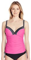 Free Country Women's Double Strap-Side Adjustable Tankini