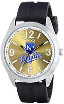 Game Time Men's MLB-VAR-KC Varsity Analog Display Japanese Quartz Black Watch