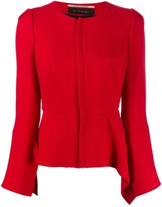 Roland Mouret Fitted Peplum-Hem Jacket