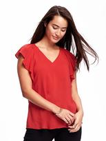 Old Navy Classic Ruffle-Sleeve Top for Women
