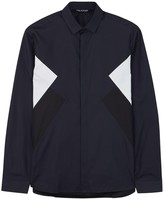 Neil Barrett Navy Cotton Poplin Shirt