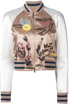 Valentino embroidered bomber jacker - women - Silk/Cotton/Viscose - 42