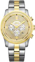 JBW J6337A Vanquish Japanese-Quartz Multi-Function Movement Diamond Two Tone Stainless Steel Men's Wrist Watch